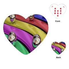 Balloons Colorful Rainbow Metal Playing Cards (heart)