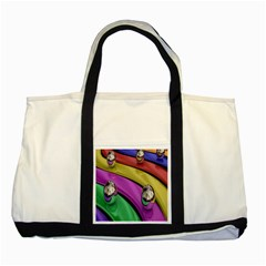 Balloons Colorful Rainbow Metal Two Tone Tote Bag