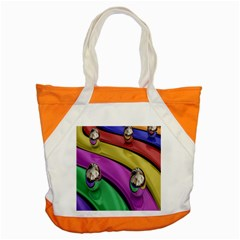 Balloons Colorful Rainbow Metal Accent Tote Bag