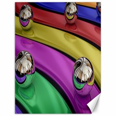 Balloons Colorful Rainbow Metal Canvas 12  X 16
