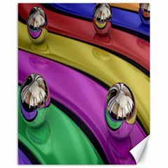 Balloons Colorful Rainbow Metal Canvas 16  x 20
