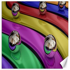 Balloons Colorful Rainbow Metal Canvas 20  X 20