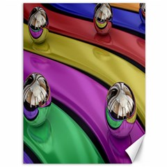 Balloons Colorful Rainbow Metal Canvas 36  x 48