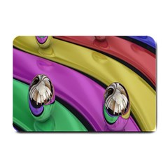 Balloons Colorful Rainbow Metal Small Doormat