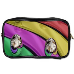 Balloons Colorful Rainbow Metal Toiletries Bags 2 Side
