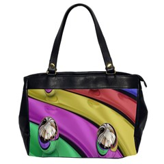 Balloons Colorful Rainbow Metal Office Handbags (2 Sides)