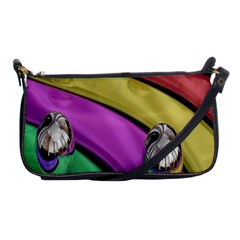 Balloons Colorful Rainbow Metal Shoulder Clutch Bags