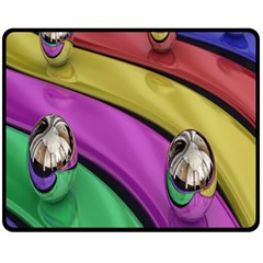 Balloons Colorful Rainbow Metal Fleece Blanket (medium)