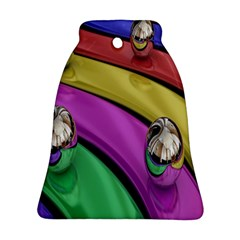 Balloons Colorful Rainbow Metal Ornament (Bell)