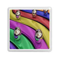 Balloons Colorful Rainbow Metal Memory Card Reader (square)