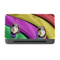 Balloons Colorful Rainbow Metal Memory Card Reader With Cf