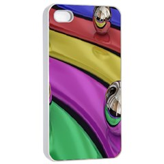 Balloons Colorful Rainbow Metal Apple iPhone 4/4s Seamless Case (White)