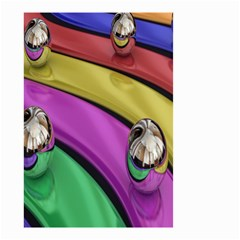 Balloons Colorful Rainbow Metal Small Garden Flag (Two Sides)