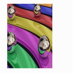 Balloons Colorful Rainbow Metal Large Garden Flag (Two Sides)