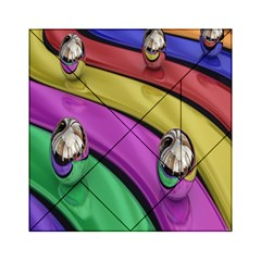 Balloons Colorful Rainbow Metal Acrylic Tangram Puzzle (6  x 6 )