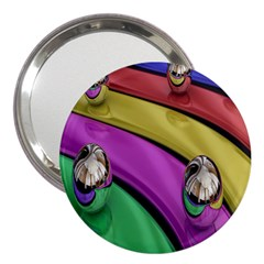 Balloons Colorful Rainbow Metal 3  Handbag Mirrors
