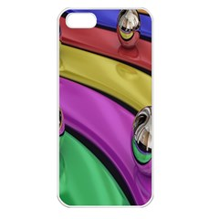 Balloons Colorful Rainbow Metal Apple iPhone 5 Seamless Case (White)
