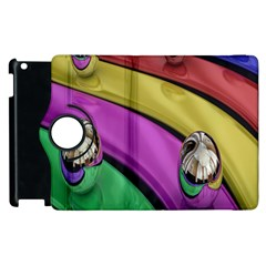 Balloons Colorful Rainbow Metal Apple iPad 3/4 Flip 360 Case