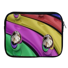 Balloons Colorful Rainbow Metal Apple iPad 2/3/4 Zipper Cases