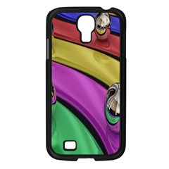 Balloons Colorful Rainbow Metal Samsung Galaxy S4 I9500/ I9505 Case (Black)