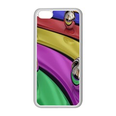 Balloons Colorful Rainbow Metal Apple iPhone 5C Seamless Case (White)