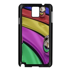 Balloons Colorful Rainbow Metal Samsung Galaxy Note 3 N9005 Case (Black)