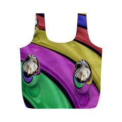 Balloons Colorful Rainbow Metal Full Print Recycle Bags (M)