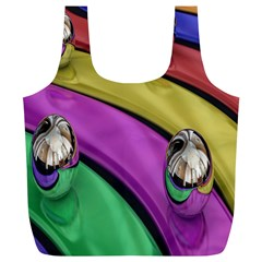 Balloons Colorful Rainbow Metal Full Print Recycle Bags (L)