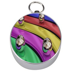 Balloons Colorful Rainbow Metal Silver Compasses