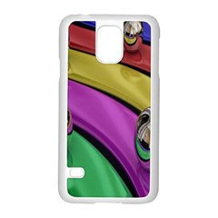 Balloons Colorful Rainbow Metal Samsung Galaxy S5 Case (White)