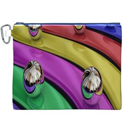 Balloons Colorful Rainbow Metal Canvas Cosmetic Bag (XXXL)
