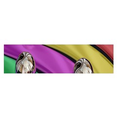 Balloons Colorful Rainbow Metal Satin Scarf (Oblong)