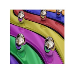 Balloons Colorful Rainbow Metal Small Satin Scarf (Square)
