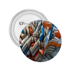 Abstraction Imagination City District Building Graffiti 2.25  Buttons