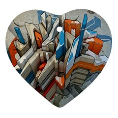 Abstraction Imagination City District Building Graffiti Ornament (Heart)