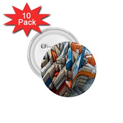 Abstraction Imagination City District Building Graffiti 1.75  Buttons (10 pack)