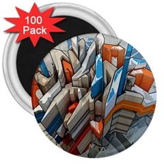 Abstraction Imagination City District Building Graffiti 3  Magnets (100 pack)