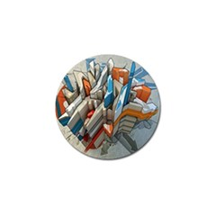 Abstraction Imagination City District Building Graffiti Golf Ball Marker (4 Pack)