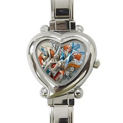 Abstraction Imagination City District Building Graffiti Heart Italian Charm Watch