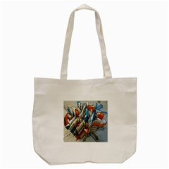 Abstraction Imagination City District Building Graffiti Tote Bag (Cream)