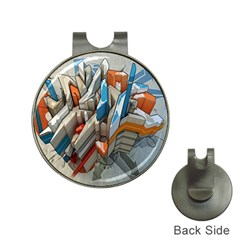 Abstraction Imagination City District Building Graffiti Hat Clips With Golf Markers