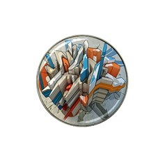 Abstraction Imagination City District Building Graffiti Hat Clip Ball Marker