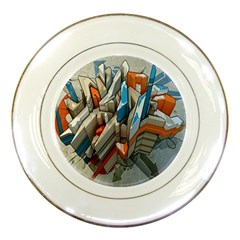 Abstraction Imagination City District Building Graffiti Porcelain Plates