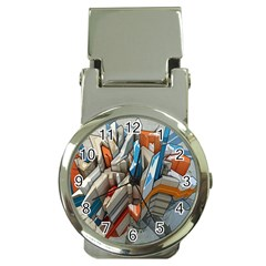 Abstraction Imagination City District Building Graffiti Money Clip Watches