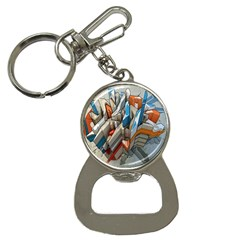Abstraction Imagination City District Building Graffiti Button Necklaces