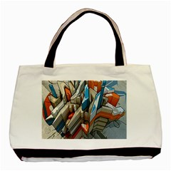 Abstraction Imagination City District Building Graffiti Basic Tote Bag