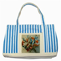 Abstraction Imagination City District Building Graffiti Striped Blue Tote Bag
