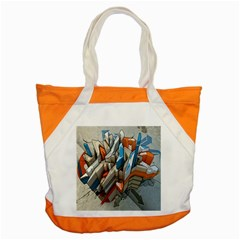 Abstraction Imagination City District Building Graffiti Accent Tote Bag