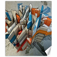 Abstraction Imagination City District Building Graffiti Canvas 8  x 10