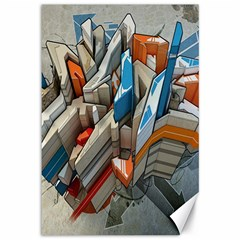 Abstraction Imagination City District Building Graffiti Canvas 12  X 18